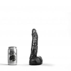 ALL BLACK Dildo Jonathan, Vinyl, Black, 17 cm (6,7 in), Ø 4,5 cm (1,8 in)