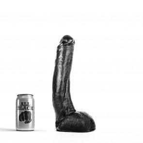 ALL BLACK Dildo Justin, Vinyl, Black, 29 cm (11,4 in), Ø 5 cm (2 in)