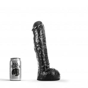ALL BLACK Dildo Rick, Vinyl, Black, 24 cm (9,5 in), Ø 6 cm (2,4 in)