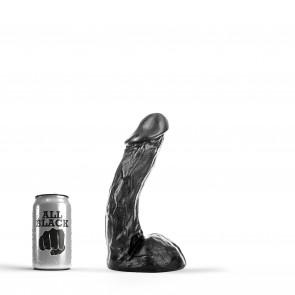 ALL BLACK Dildo Blake, Vinyl, Black, 23 cm (9 in)