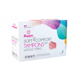 Beppy Soft & Comfort Tampons DRY, Stringless, 8 pcs