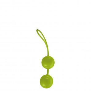 Joyballs Trend Duo, Love Balls, Silikomed®, Green, Ø 3,5 cm (1,3 in)