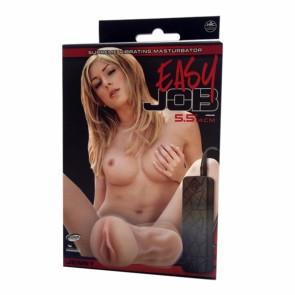 NMC Easy Job Jenny, Vibrating Masturbator Vagina, TPR/ABS, Flesh, 14 cm (5,5 in)