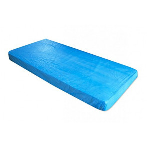 Mattress Covers with Rubber Band, CPE, Blue, 2 pcs