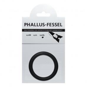 AMARELLE Phallus-Fessel, Latex Cockring, XL, black