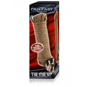 S&T FANTASY Fetish Line, Tie me up!, Cotton Bondage Rope, Brown, 10m